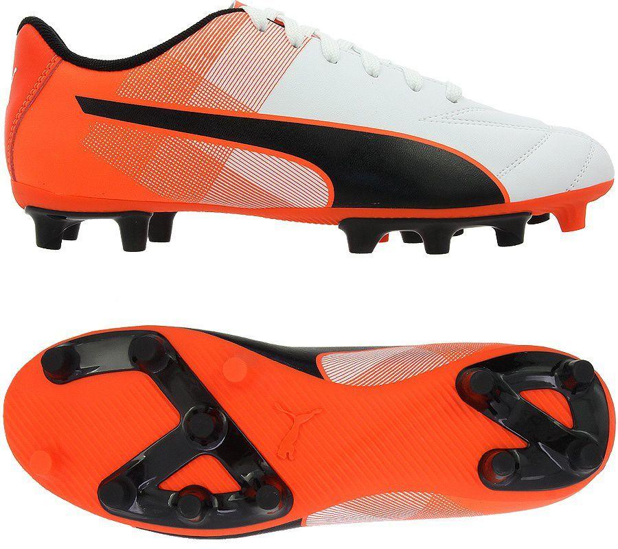 Puma Buty piłkarskie Adreno II FG Jr Biało-czerwone 38.5 (103473 07) 1