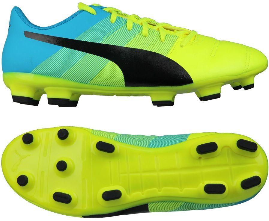 Puma Buty piłkarskie EvoPOWER 4.3 FG limonkowo niebieskie r. 47 (103536 01) ID produktu: 1605314