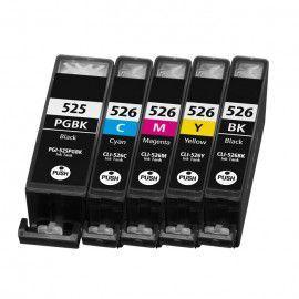 Activejet Tusz do drukarki Canon, zamiennik PGI-525Bk, CLI-526C, CLI-526M, CLI-526Y, czarny, cyan, magenta, yellow (AC-M525/526R) 1