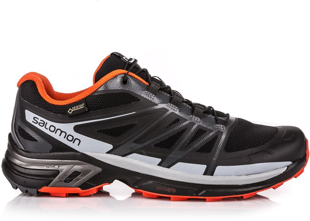 Salomon Buty męskie Wings Pro 2 GTX BlackDark CloudTomato Red r. 41 13 ID produktu: 1607260