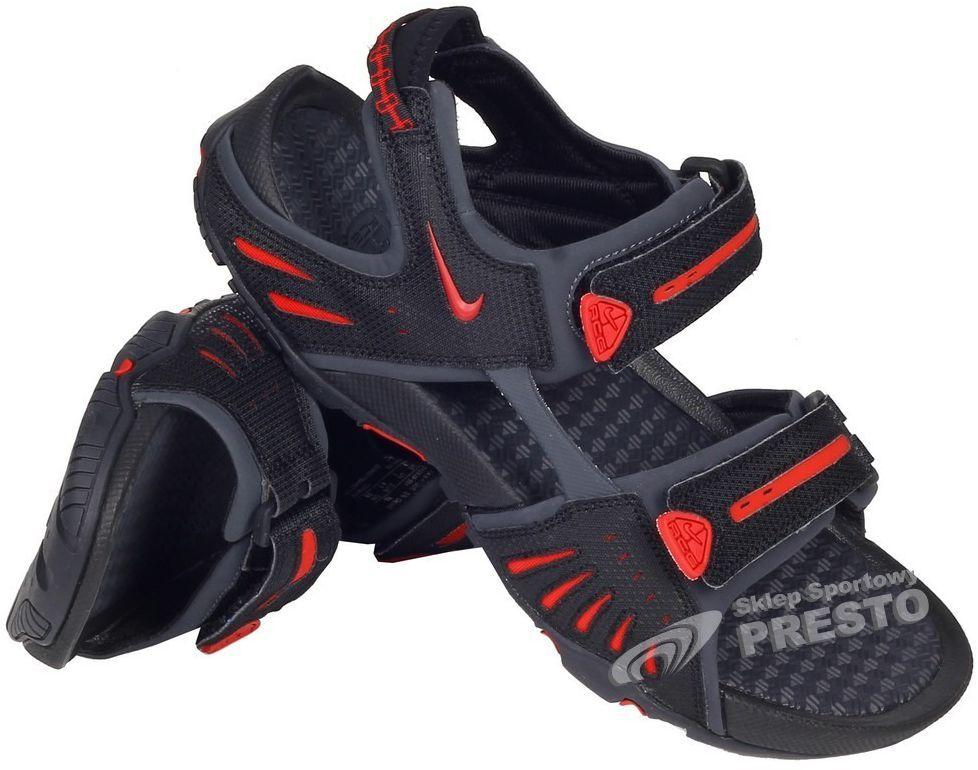 868086a0 Nike Sandały męskie Santiam 4 czarno-czerwone r. 40 (885178445705) w Sklep -presto.pl