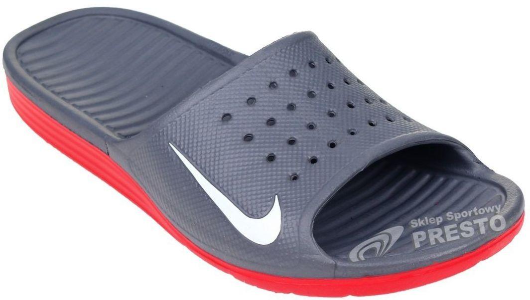 kolejna szansa gdzie kupić ponadczasowy design Nike Klapki męskie Solarsoft Slide szaro-czerwone r. 40 (883153348331) ID  produktu: 1609809