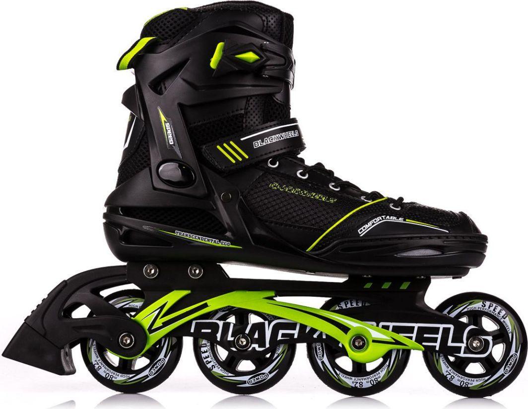 Blackwheels Rolki Slalom czarno-zielone r. 43 1
