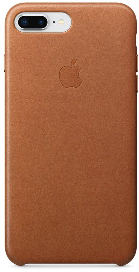 Apple iPhone 8 Plus / 7 Plus Leather Case, Saddle Brown (MQHK2ZM/A) 1