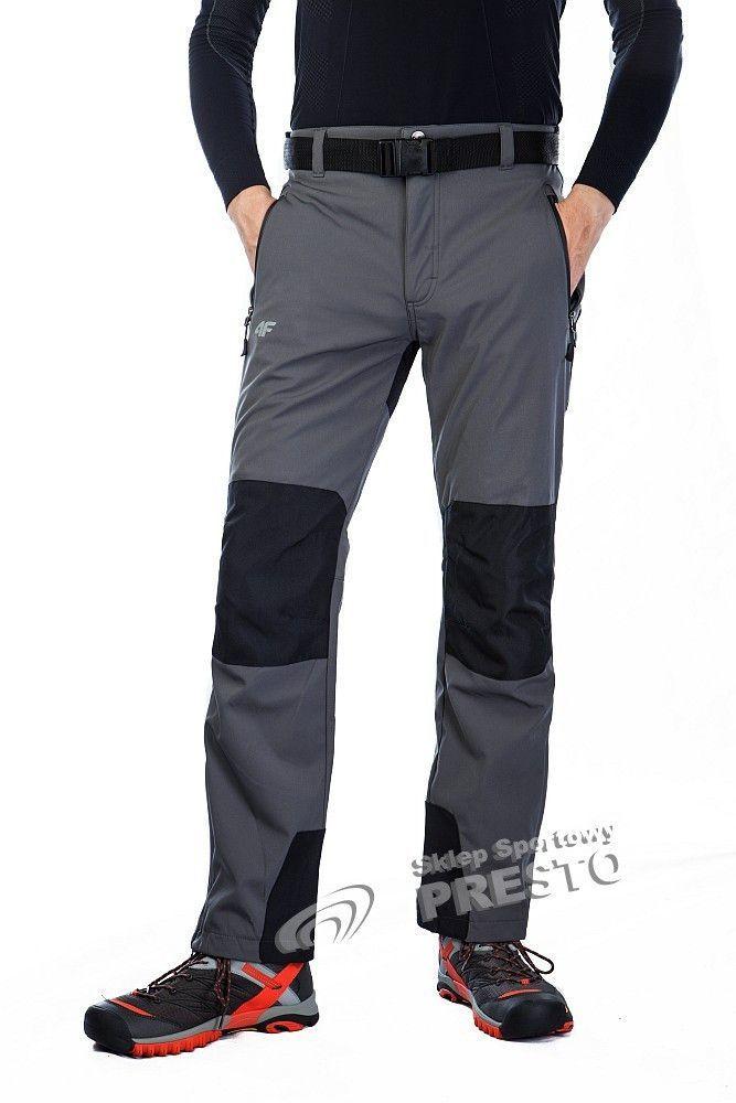 fdfde633f5537 4f Spodnie męskie SPMT001 szare r. M w Sklep-presto.pl