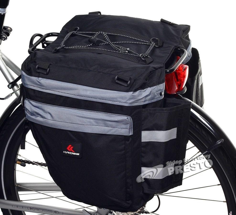 11e1a0708387c Kross Sakwa rowerowa na bagażnik dwukomorowa Kross uniw - 2000091021421 w  Sklep-presto.pl