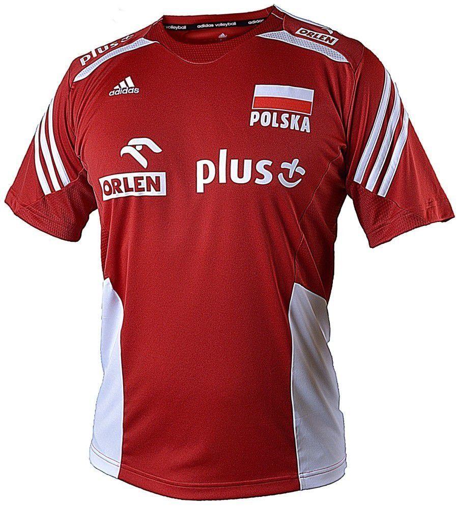 Adidas Koszulka kibica siatkarska F47510 Polska MT VB Jersey Adidas czerwony L 2000091015512 ID produktu: 1615865
