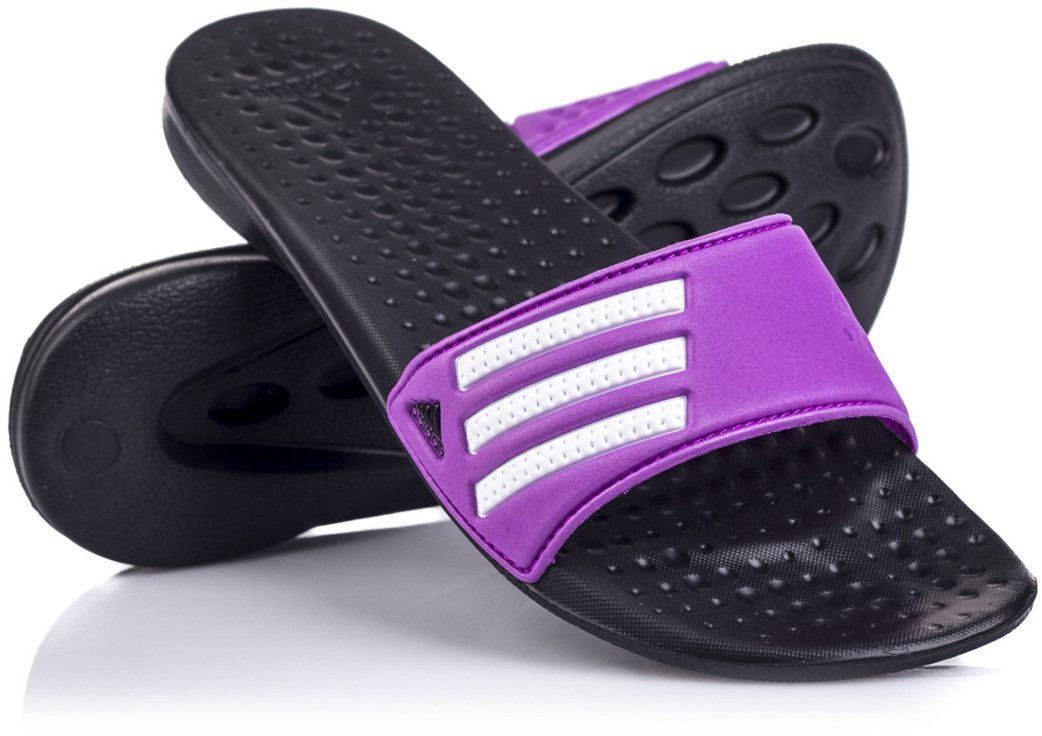 klapki adidas damskie fioletowe