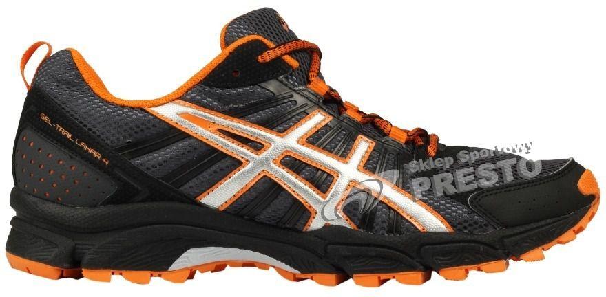 Asics Buty męskie Gel Trail Lahar 4 czarno pomarańczowe r. 42 ID produktu: 1616401