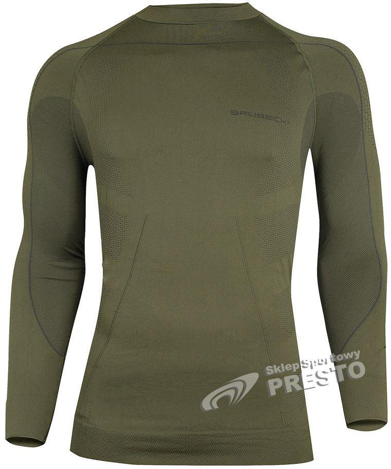 2374690b17e657 Brubeck Koszulka termoaktywna męska Brad Thermo LS01150 Brubeck Khaki M -  5902487005712 w Sklep-presto.pl