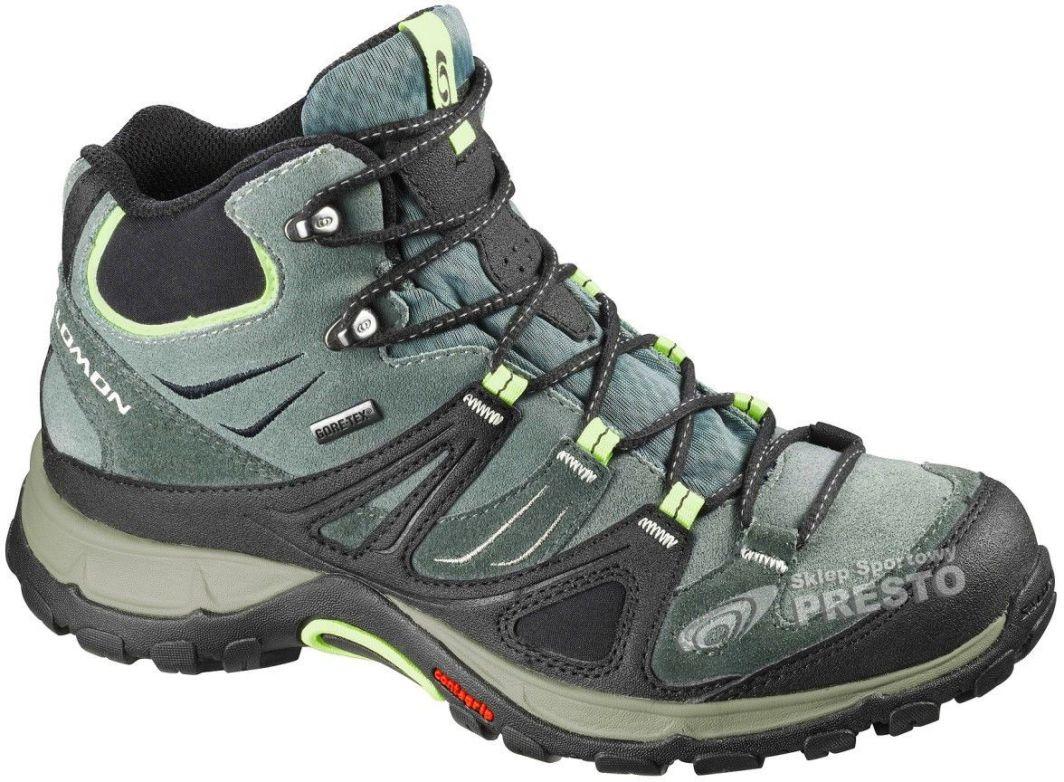 Salomon Buty trekkingowe damskie Ellipse Mid GTX zielono czarne r. 38 23 ID produktu: 1618684