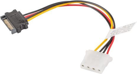 Lanberg Kabel Molex 4-pin - SATA 15-pin 15cm (CA-SAHD-10CU-0015) 1