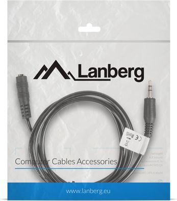 Kabel Lanberg Jack 3.5mm - Jack 3.5mm 1.5m czarny (CA-MJFJ-10CC-0015-BK) 1