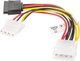 Lanberg kabel Molex 4pin - Molex 4pin/SATA 15pin 15cm (CA-HDSA-12CU-0015) 1