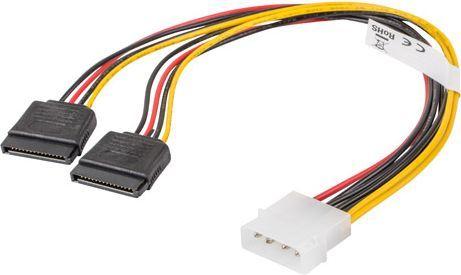 Lanberg Molex 4-pin - 2x SATA 15-pin 30cm (CA-HDSA-11CU-0030) 1