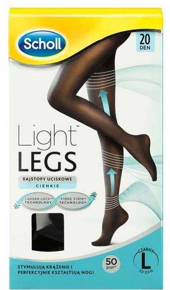 Scholl Rajstopy Uciskowe Light Legs 20 DEN czarne r. L 1
