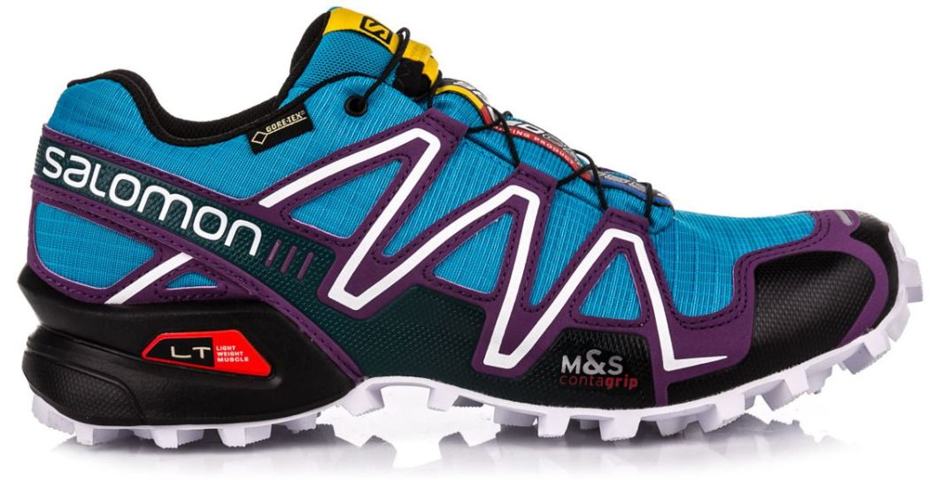 Salomon Buty biegowe trailowe damskie Speedcross 3 GTX W Salomon Scuba BlueCosmic PurpleBlack 41 13 2000091027722 ID produktu: 1621551