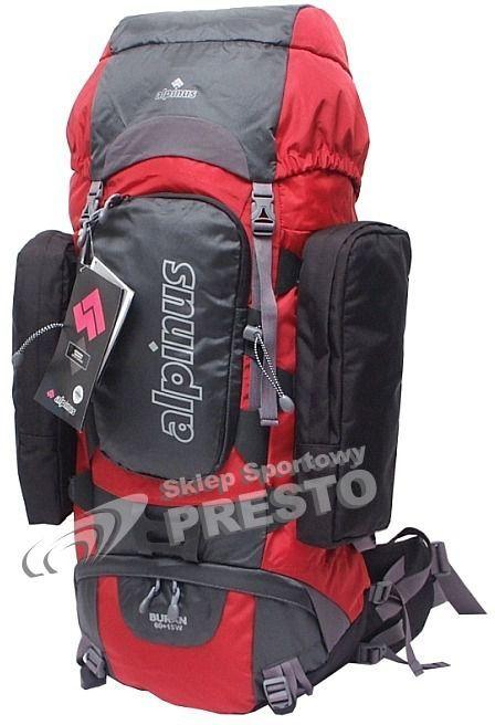 5e556944ceb5d Alpinus Plecak turystyczny Alpinus Buran 60 czerwono-stalowo-czarny uniw -  5900787371247 w Sklep-presto.pl