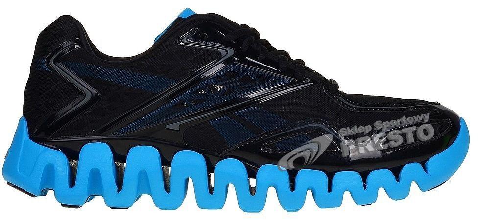 Reebok Buty męskie biegowe ZigTech ZigSonic czarno niebieskie r. 45 ID produktu: 1623963