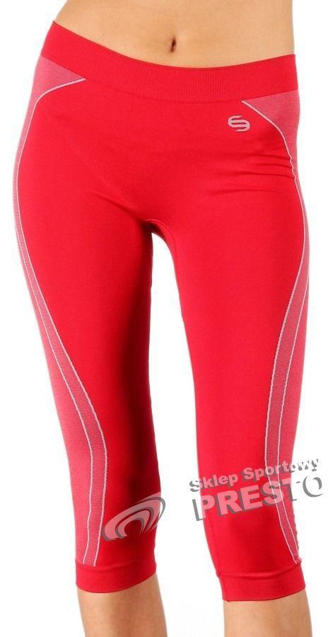 c4522034024c6b Brubeck Spodnie termoaktywne 3/4 damskie Lucy czerwone r. XL (SP10020) w  Sklep-presto.pl