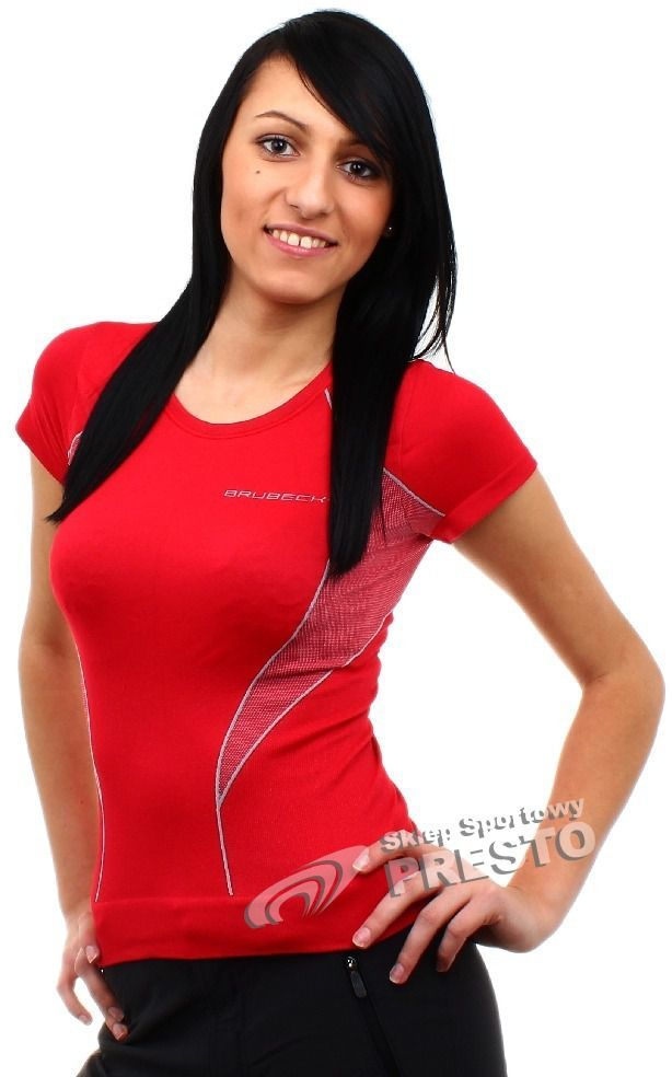 1753e1d85ee1d4 Brubeck Koszulka damska SS01100 czerwona r. XL w Sklep-presto.pl