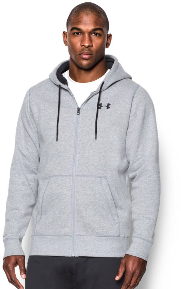 hurtownia online najniższa zniżka świetne okazje 2017 Under Armour Bluza męska Storm Rival Fleece Zip Hoodie True Gray Heather  szara r. XL (280781-025) w Sklep-presto.pl