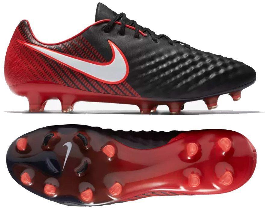 Buty piłkarskie Meskie Nike Magista Opus 2 FG Biało Czerwony