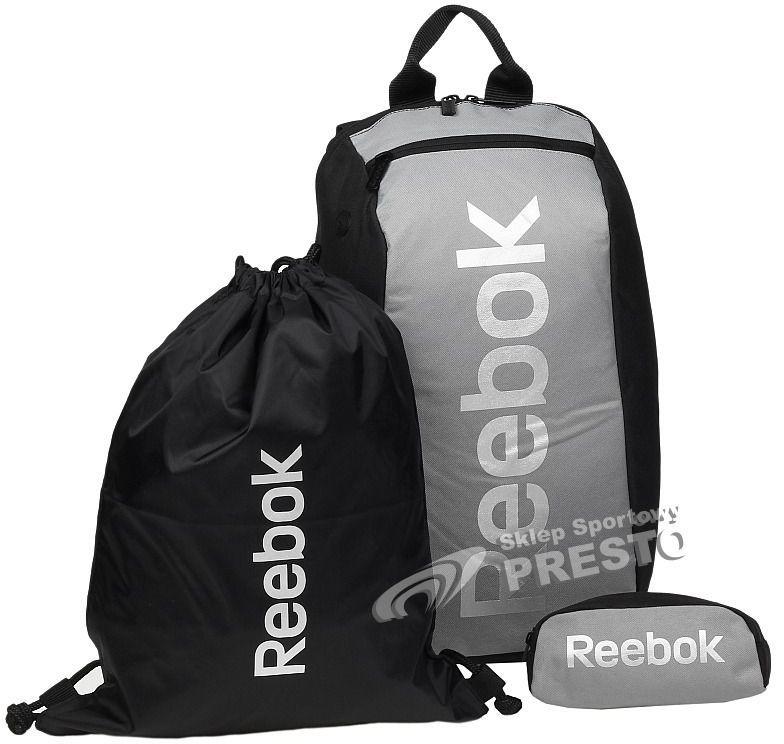 Reebok Plecak szkolny z piórnikiem i workiem na buty BTS BP F10 R Reebok czarno szary uniw 884898406775 ID produktu: 1629911