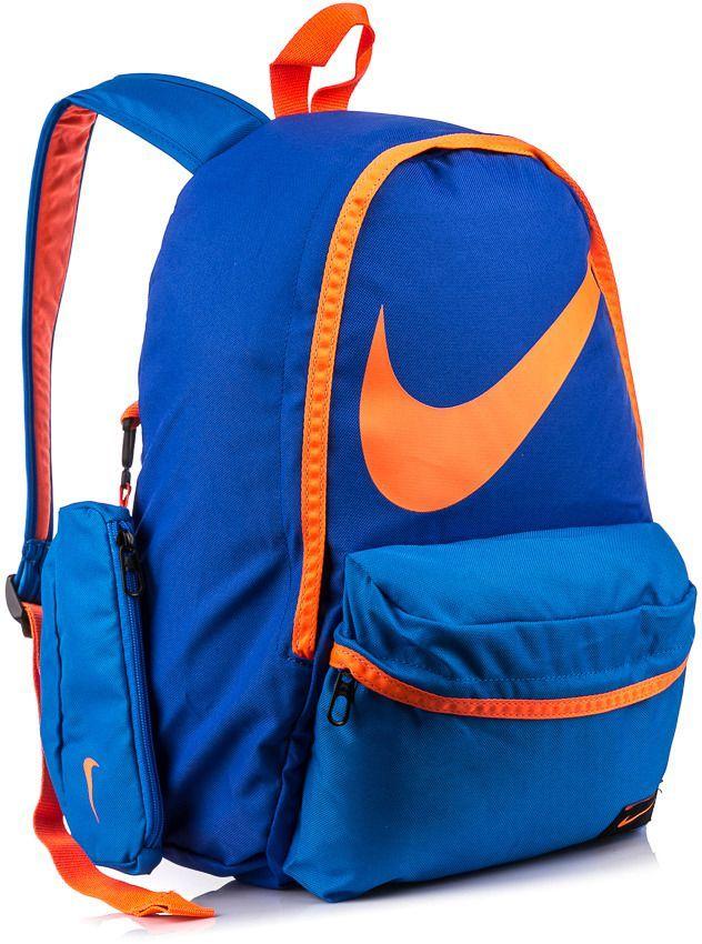 716880e9b929a Nike Plecak szkolny z piórnikiem Young Ath. Halfday Back To School 23 Nike  niebiesko-pomarańczowy uniw - 887230418238 w Ubieramy.pl