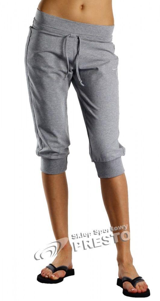 fdbfe3b481 Nike Spodnie dresowe damskie 3 4 Jersey Cuffed Capri szare r. S w Sklep -presto.pl