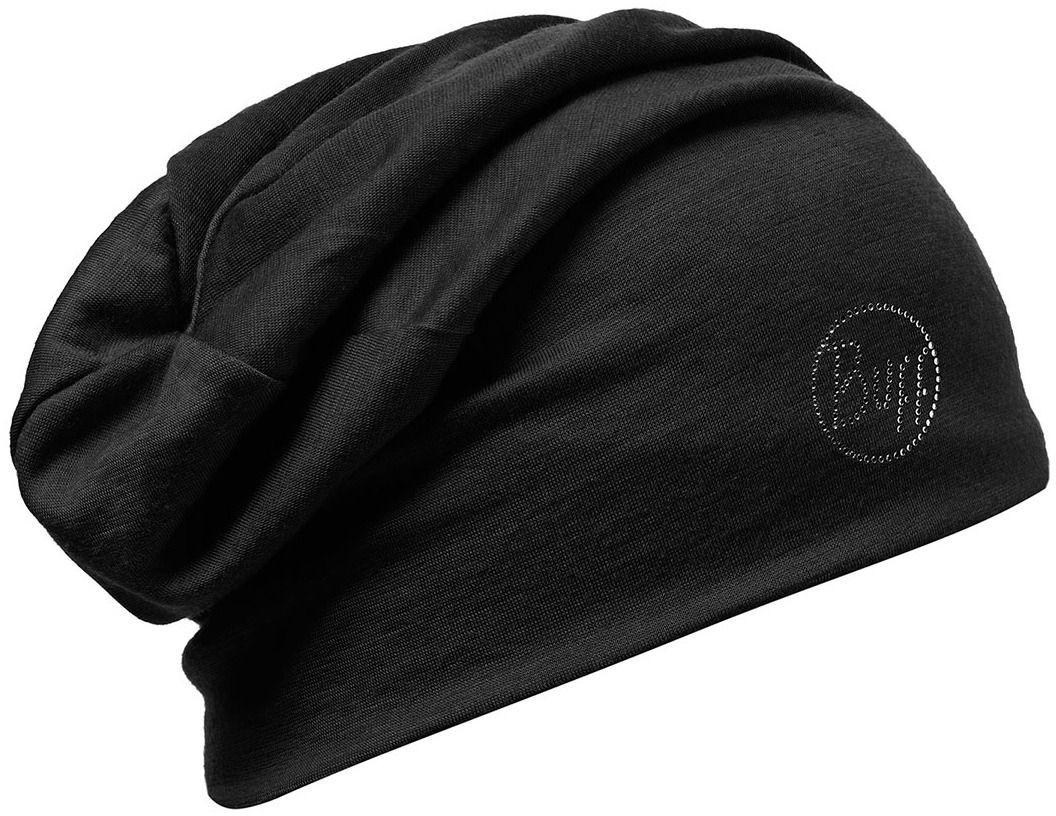 ebfb3d80 Buff Czapka zimowa damska Merino Wool 2 Layers Hat Solid Chic Czarna r.  uniw w Sklep-presto.pl
