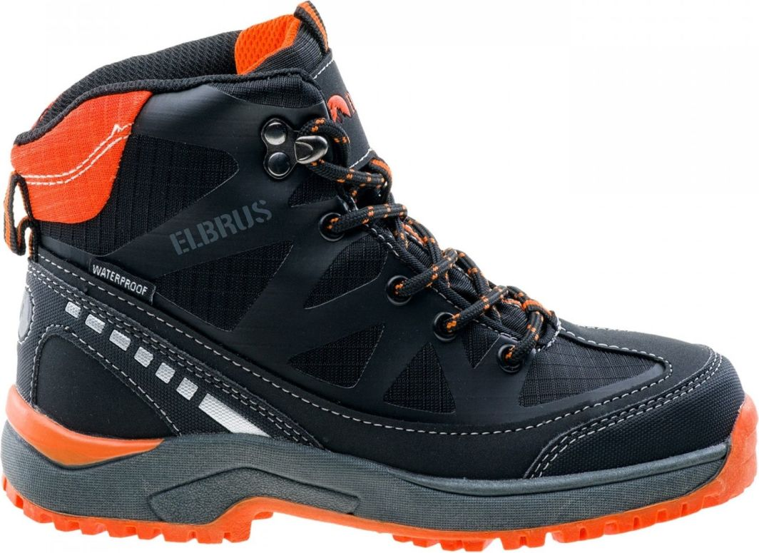 Elbrus Buty Dziecięce Tares Mid WP Jr BlackDark GreyOrange r. 35 (4254) ID produktu: 1632642