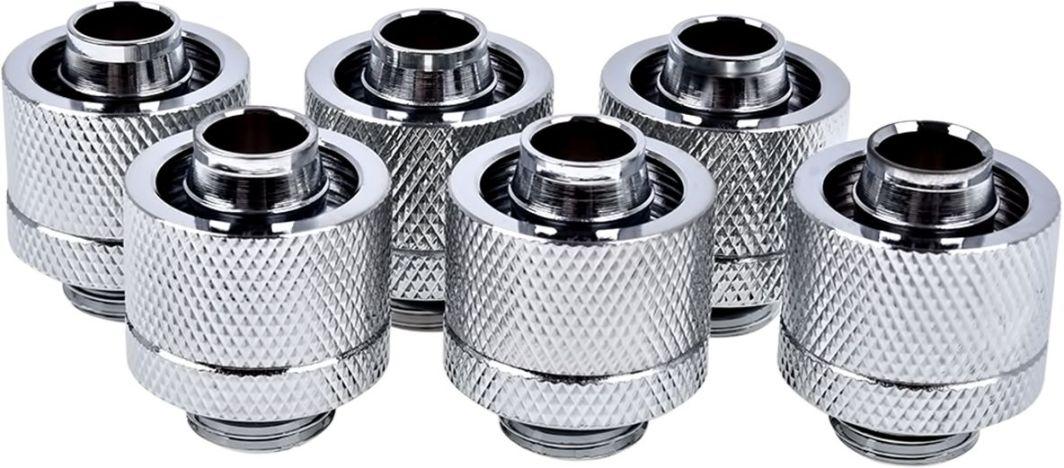 """Alphacool Złączki choinkowe 1/4"""" - 16/10mm, 6szt. srebrne (17235) 1"""