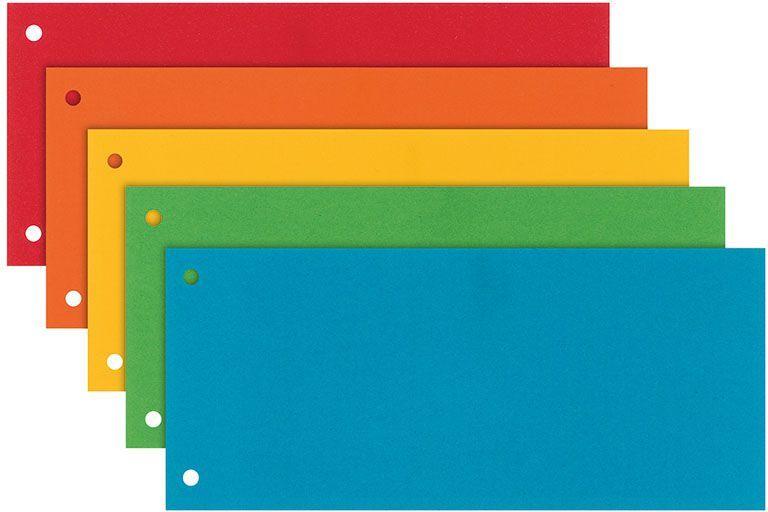 Esselte Przekładki 1/3 A4 Mix kolorów 100szt. (624450) 1