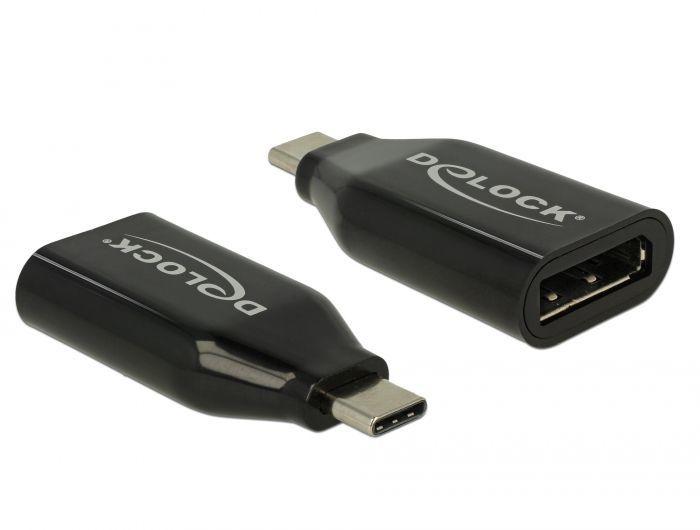 Adapter USB Delock USB C - Displayport, 4K 60Hz, czarny (62977) 1