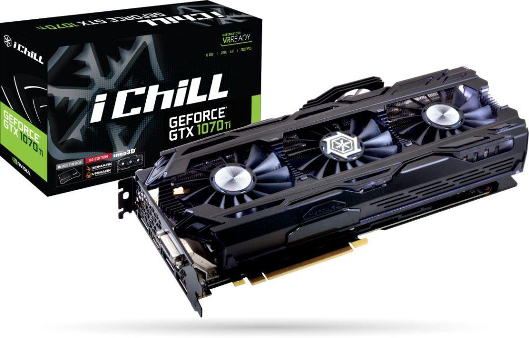 Karta graficzna Inno3D GeForce GTX 1070 Ti iChill X4 8GB GDDR5 (256 bit) DVI-D, HDMI, 3xDP, BOX (C107T4-1SDN-P5DN) 1