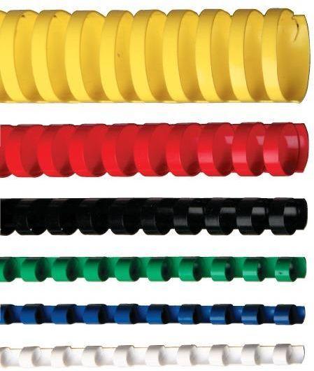 Opus Plastikowe grzbiety do bindowania 6mm czarny (ib06CZA) 1