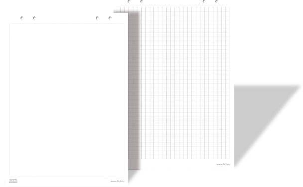 2x3 Blok do Flipchart 66 x 99cm EURO, kratka, 20 kartek (B05) 1