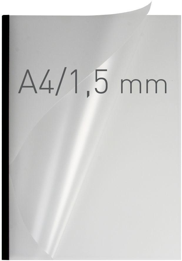 Opus Okładki O.easyCOVER Semi Matt A4 1,5mm czarne (EASYCOVERA4DHM1CZA50) 1