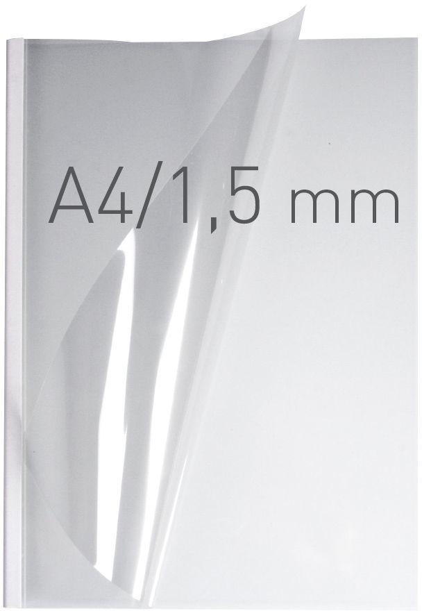 Opus Okładki O.easyCOVER Double Clear A4 1.5mm biały (EASYCOVERA4DC1BIA50) 1