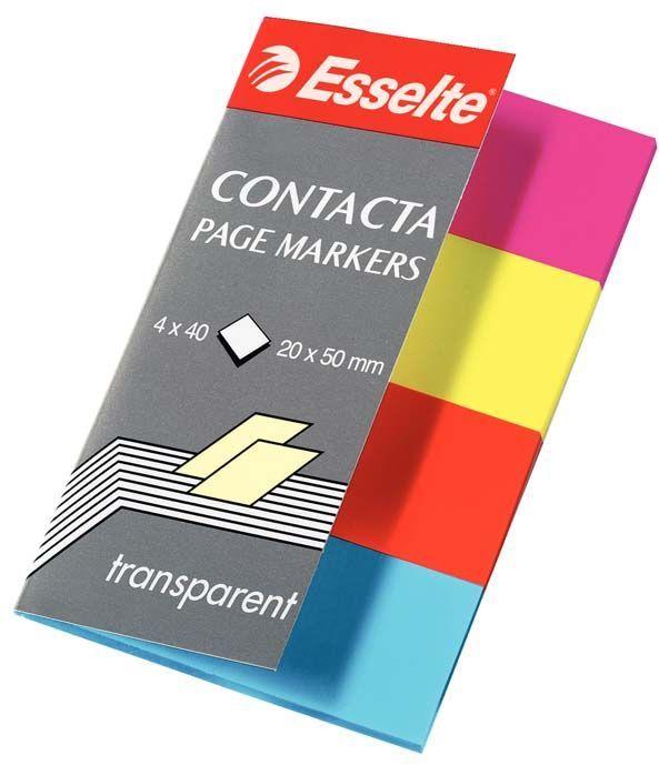 Esselte Indeksy samoprzylepne. przezroczyste Contacta (83017) 1