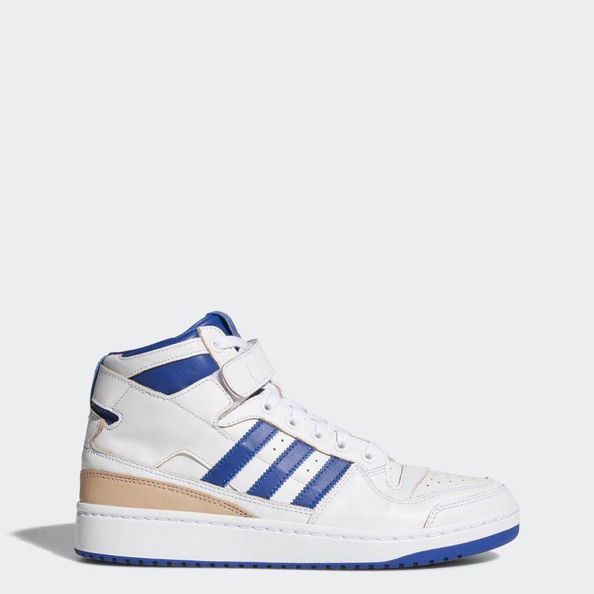 ekskluzywne oferty wyprzedaż w sklepie wyprzedażowym wiele modnych xxxxxxxAdidas Originals Buty męskie Forum MID biało niebieskie r. 44 2/3  (BY4412) ID produktu: 1649411