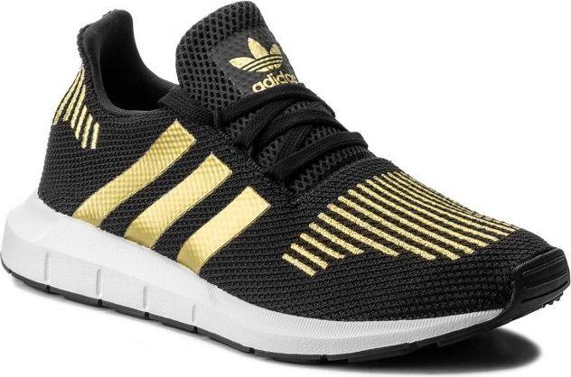 Bardzo dobry Adidas Buty Damskie Originals Swift Run W Czarno - Złote r. 38 VO52