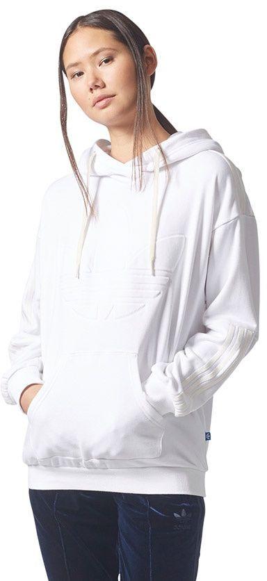 adidas bluza biała