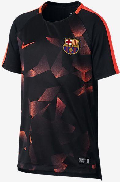 388e89e9055 Nike Koszulka dziecięca FCB Y NK DRY SQD TOP SS CL czarna r. L (897015 014)  w Sklep-presto.pl
