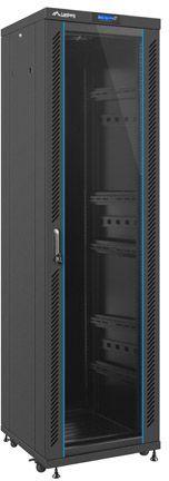 """Szafa Lanberg stojąca 19"""" 42U 600X600 czarna, szklana, LCD, FLAT PACK (FF02-6642L-12B) 1"""