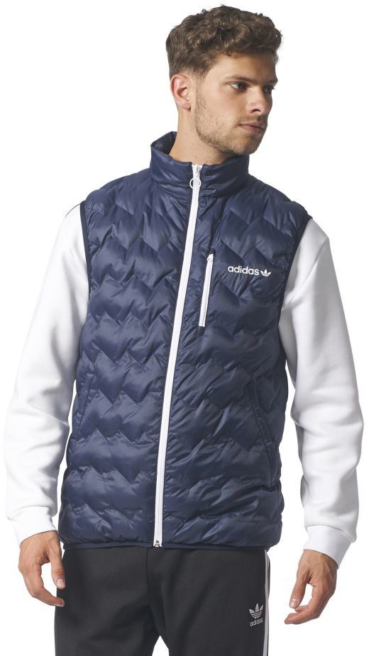 60e48c742daab xxxxxxxAdidas Originals Bezrękawnik adidas Originals SERRATED LIGHT PADDED  VEST BR4779 BR4779 granatowy L - BR4779