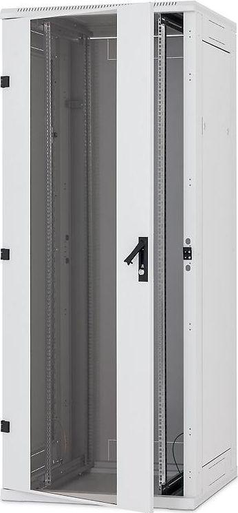 """Szafa TriTon serwerowa stojąca 19"""" 42U 800x1000 drzwi szklane, obciążalność 1200 kg. kolor szary, RTA-42-A81-CAX-A1 1"""