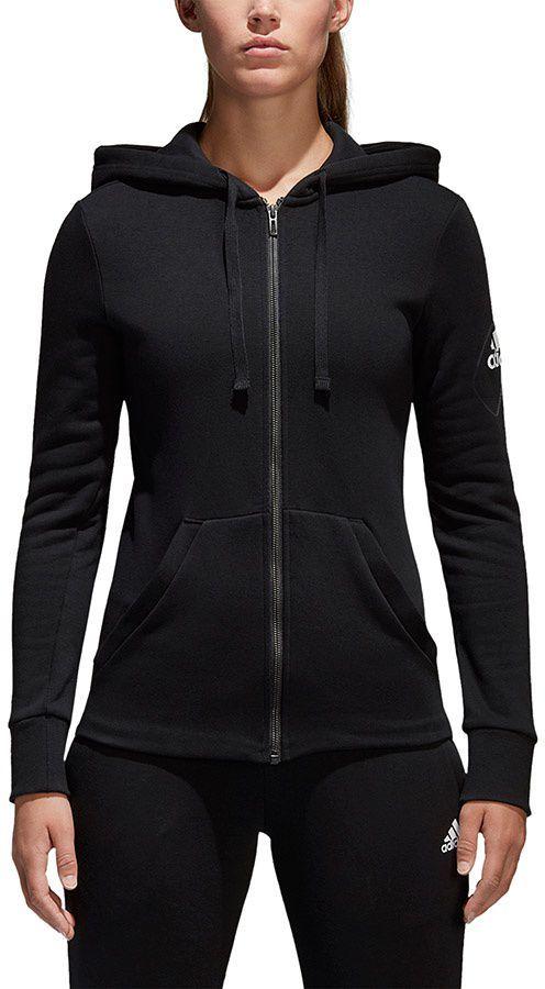 Los Angeles dobra tekstura szczegóły dla Adidas Bluza damska Essentials Solid Fullzip Hoodie czarna r. XL (S97085)  ID produktu: 1670709