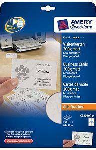 Avery Zweckform Papier Wizytówkowy 85x54mm C32020 25 Id Produktu 1679069